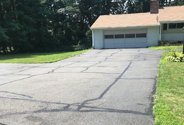 Driveway Crack fill in Orange