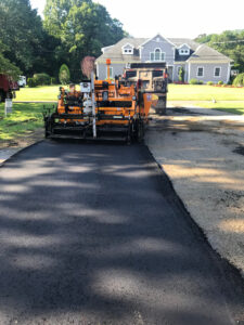 applying hot asphalt